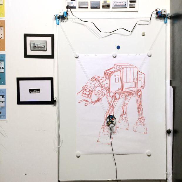 Arduino Polar V Plotter