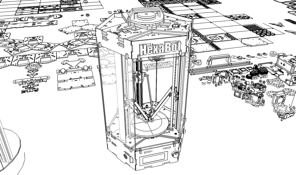 DIY Delta 3D Printer – HexaBot
